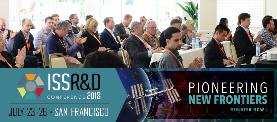 Come visit us at the International Space Station R&D Conference!!